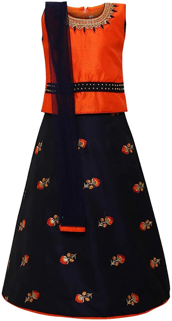 Aarika Girl's silk Lehenga Choli