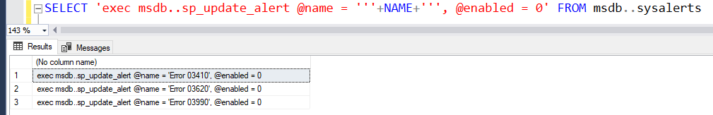 Enable or Disable Alerts In SQL Server 1