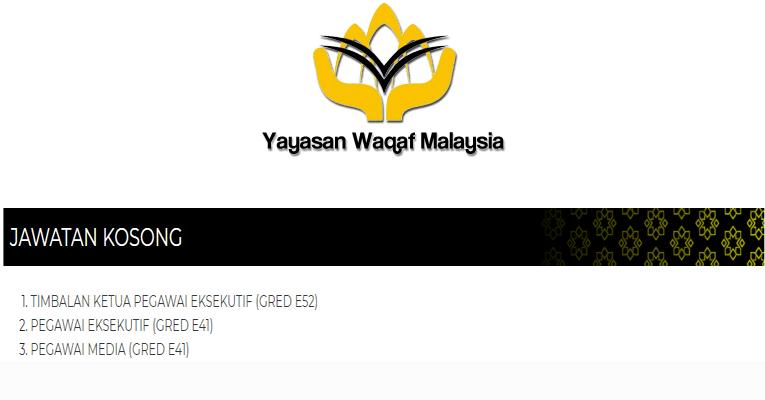 Kekosongan Terkini di Yayasan Waqaf Malaysia