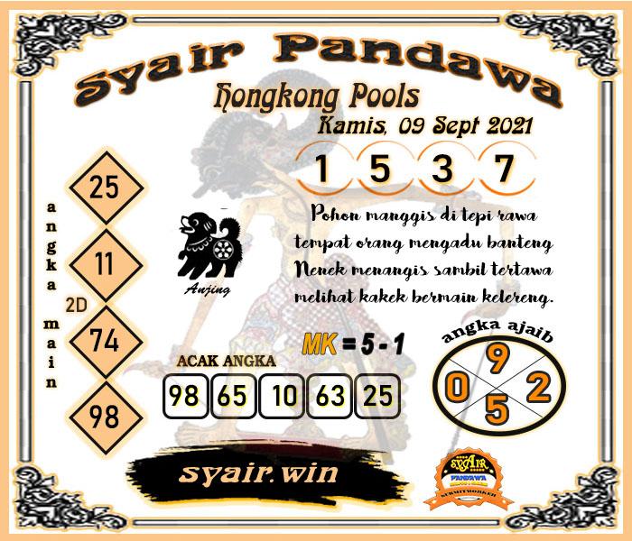 Syair Pandawa HK Kamis 09-09-2021