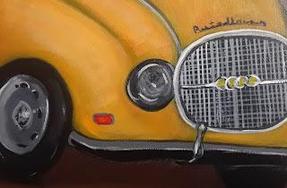 #oldtruckaudi- #cynthia- #costarica-#artedonypasion #yellowaudi #oldtruck