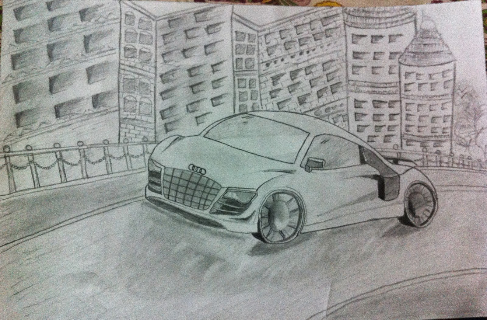 Best 3d pencil shading car audi car sketching drawing tricks