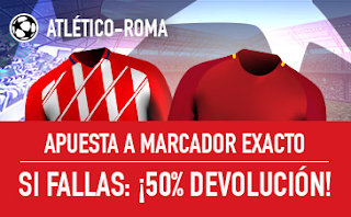 sportium promocion champions Atletico vs Roma 22 noviembre