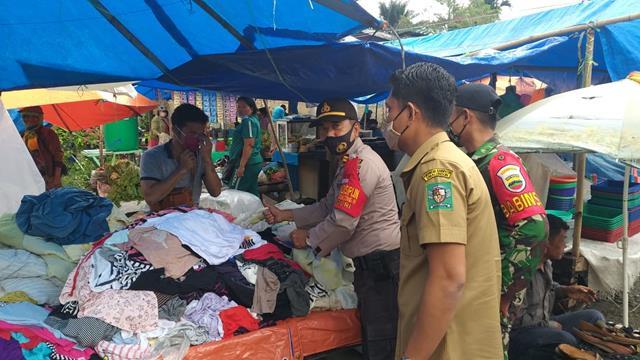 Tepatnya Dipasar Dwikora Parluasan Personel jajaran Kodim 0207/Simalungun Laksanakan Gakplin