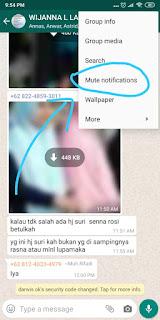 menonaktifkan notifikasi group whatsapp