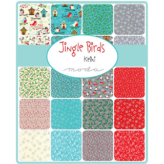 Moda Jingle Birds Fabric by Keiki for Moda Fabrics