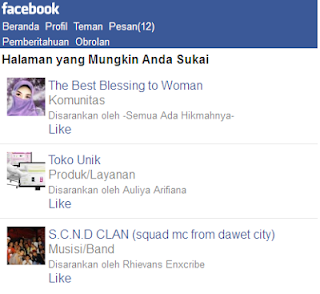 Cara membuat Fan Page di Facebook via HandPhone