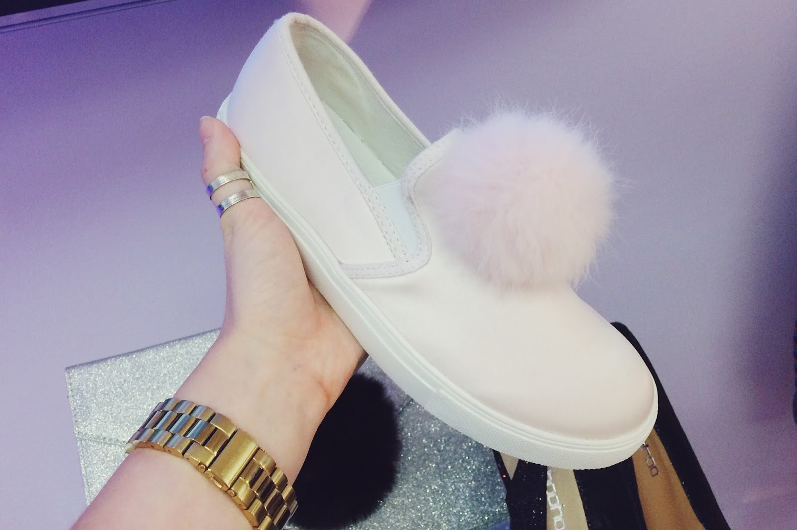 boohoo.com Christmas Collections Preview, shoes with pom poms