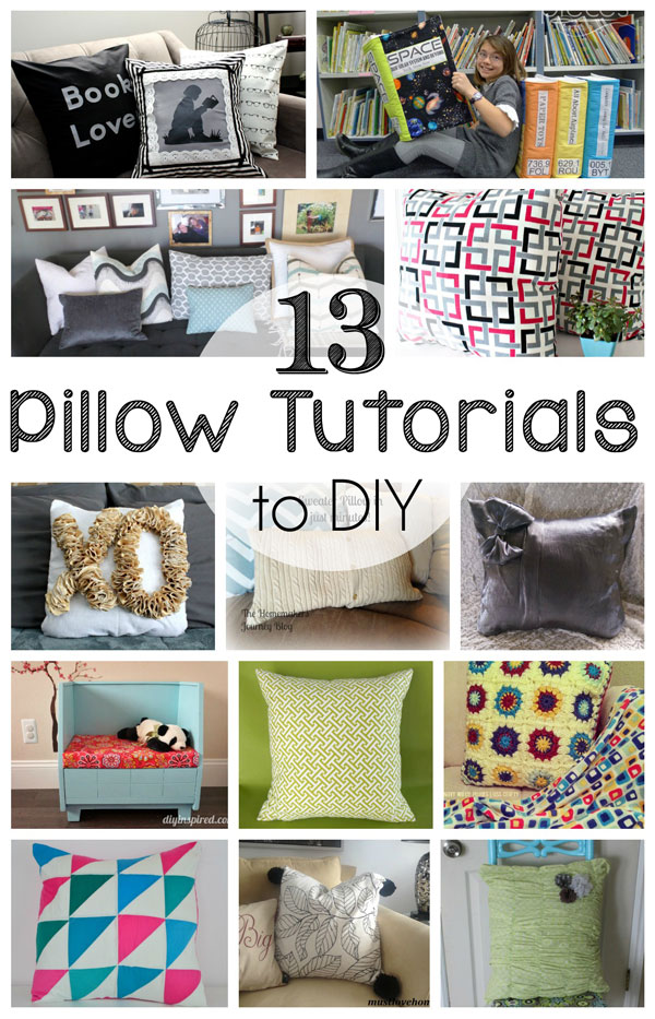 13 great Pillow tutorials to DIY and sew