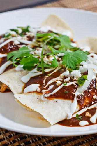 Enmoladas (Chicken Mole Enchiladas)