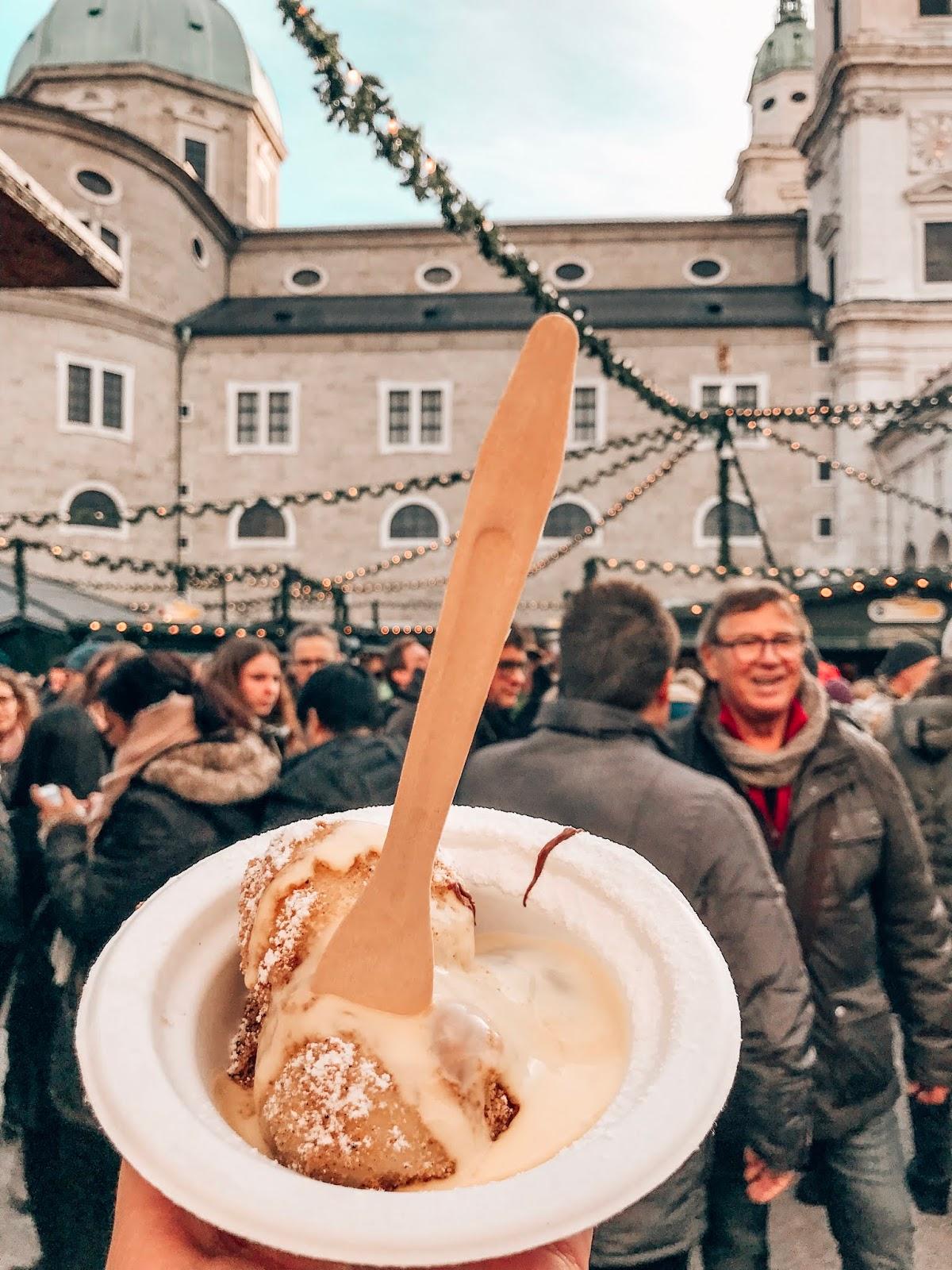 salzburg novoletna trznica cokoladni knedlji