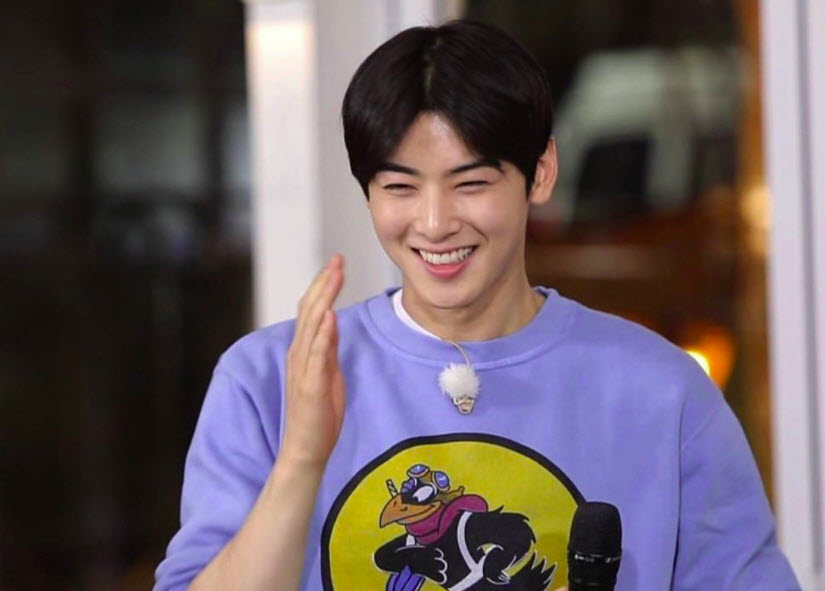 Cha Eun Woo is very happy with his new project
