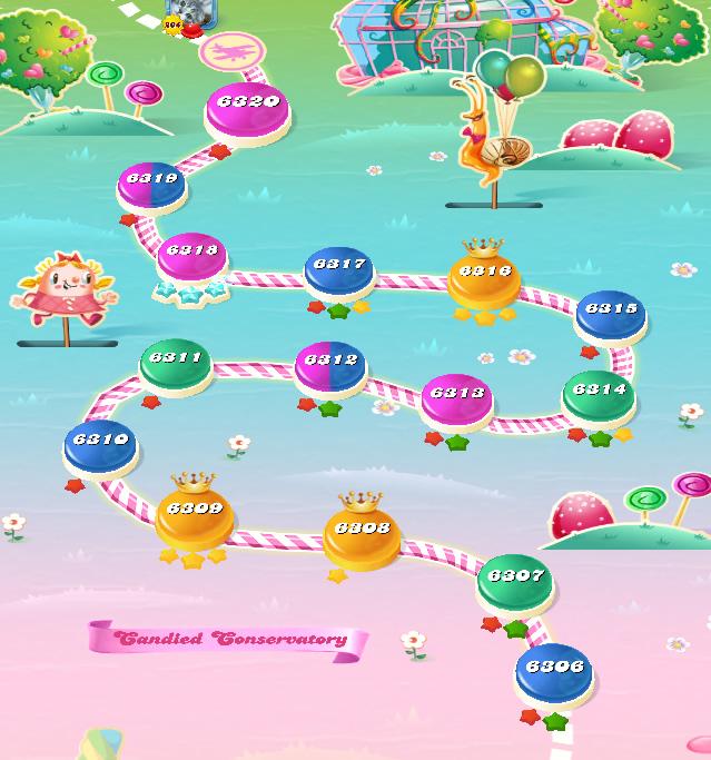 Candy Crush Saga level 6306-6320