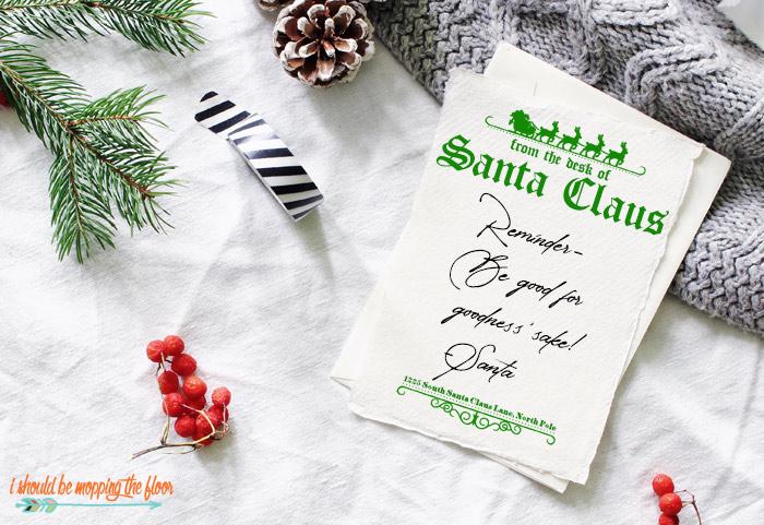 Free Santa Letterhead Printable