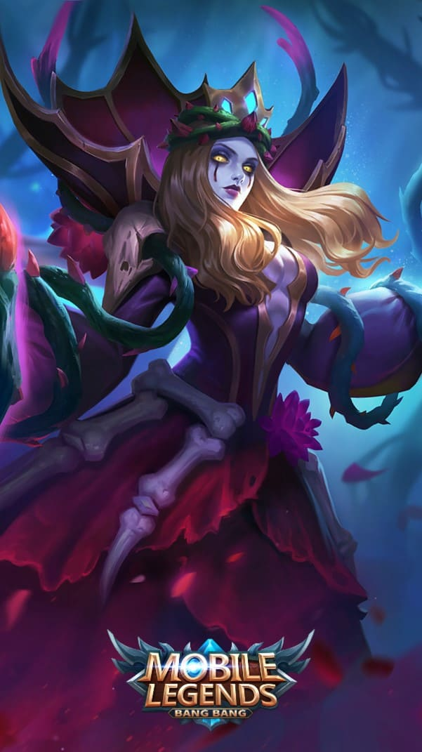 Wallpaper Vexana Sanguine Rose Skin Mobile Legends HD for Android and iOS