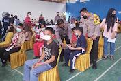 Kapolres Tanjung Balai Tinjau Pelaksanaan Vaksinasi Covid-19 Untuk Pelajar SMA