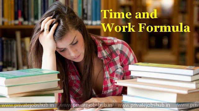 Time and Work Formula