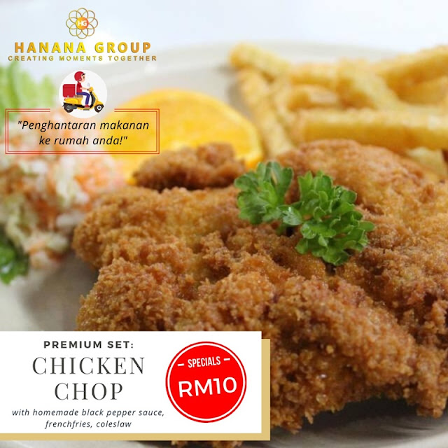 Chicken Chop (with homemade blackpapper sauce, coleslaw) RM10