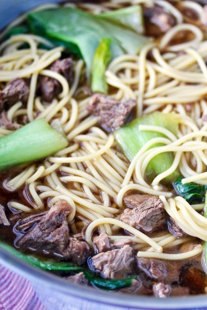 Chinese Taiwanese beef noodle soup