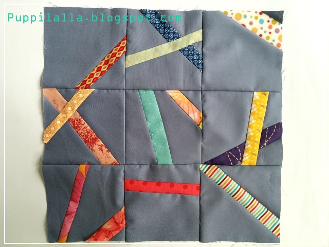 Improv, Slash and Sew, Stash Bee, Quilting Bee, Bee Block, Washi Tape, Puppilalla