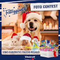 Logo Vitakraft ''Foto contest Festeggiando'': vinci gratis forniture per i tuoi Pet