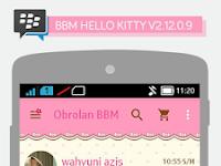 BBM Hello Kitty V2.12.0.9 Apk Terbaru
