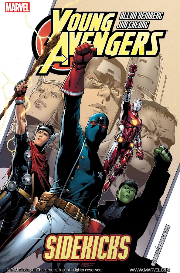 young avengers sidekicks marvel comics cover allan heinberg jim cheung