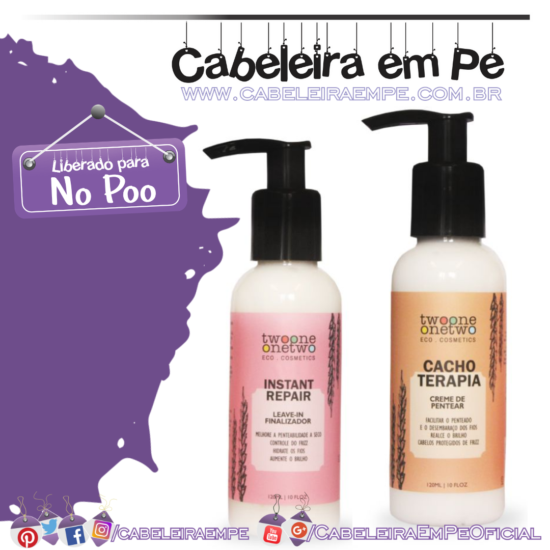 Creme para Pentear Cacho Terapia e Leave in Instant Repair - Twoone Onetwo (No Poo)