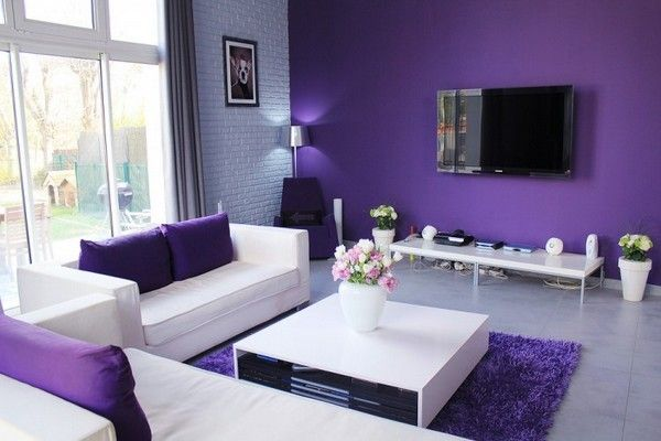 Blues Purple Living Rooms Design Pictures Remodel Decor and Ideas
