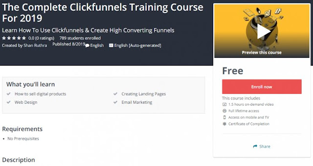 [100% Free] The Complete Clickfunnels Training Course For 2019