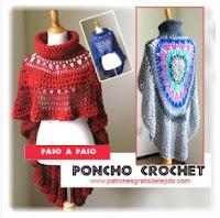 poncho redondo crochet