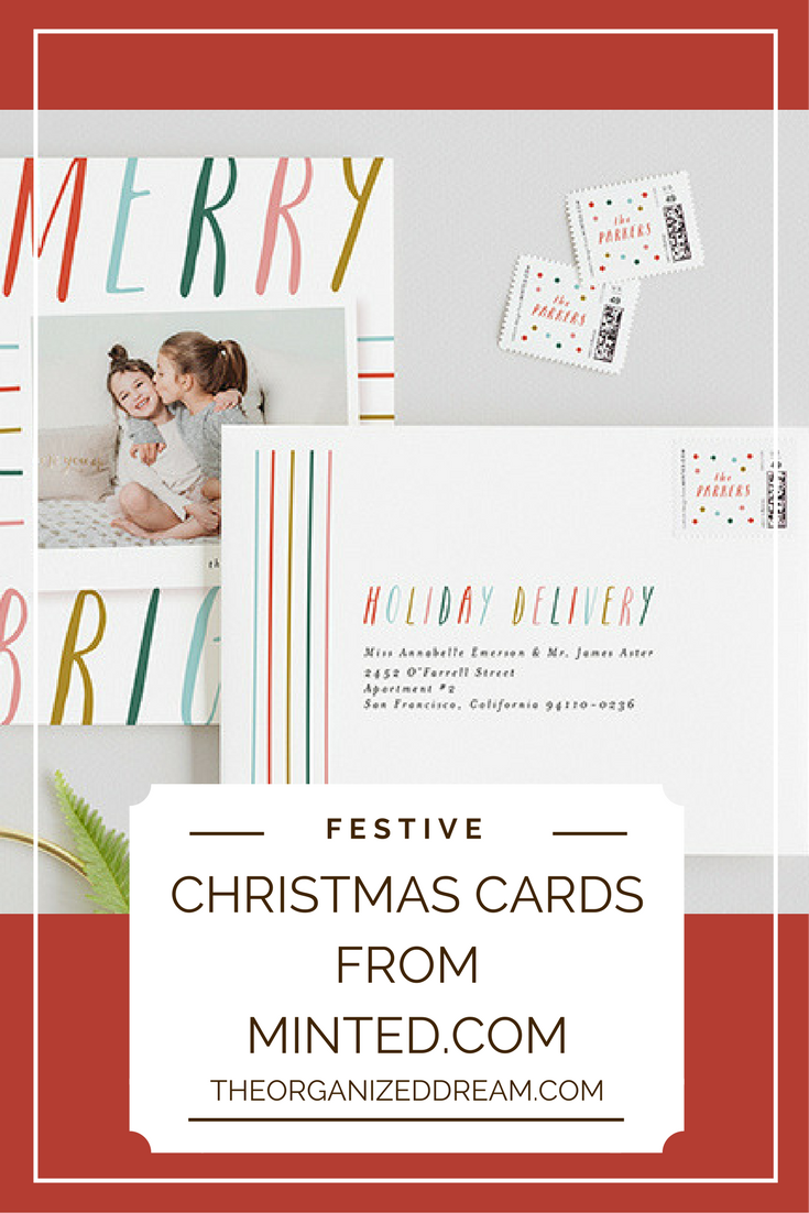 festive christmas cards from minted com the organized dream