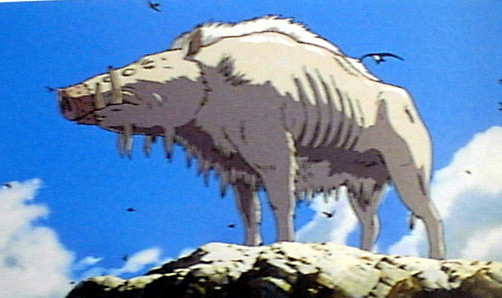Boar god Princess Mononoke 1997 animatedfilmreviews.filminspector.com