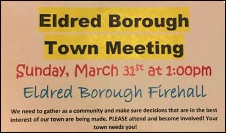 3-31 Eldred Borough Town Meeting