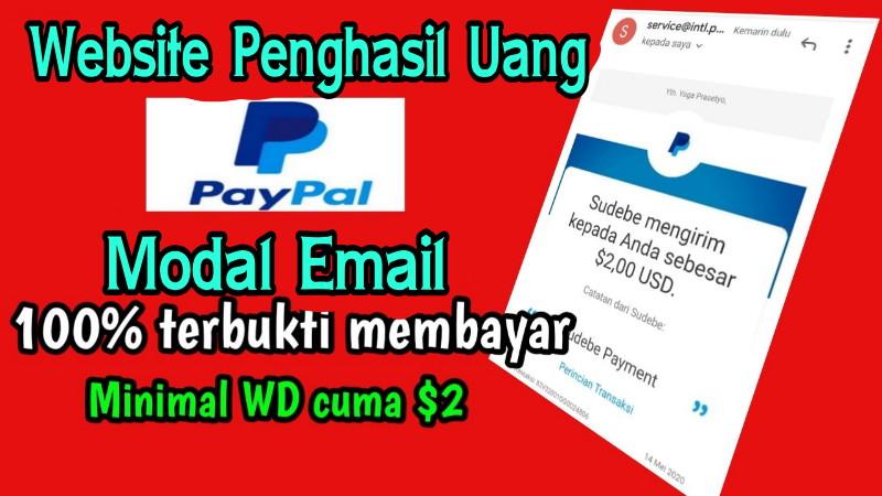 Website Terbaru Penghasil Uang Paypal Dollar Tercepat 2020 Gratis Pulsa Mod