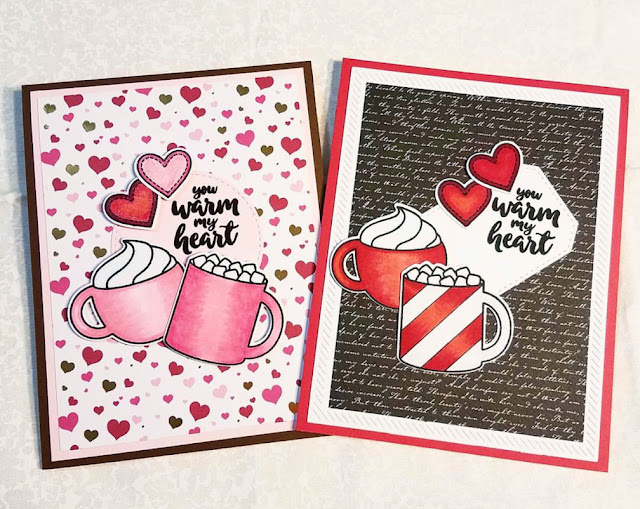 Sunny Studio Stamps: Mug Hugs You Warm My Heart cards by Judy