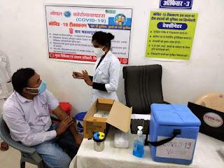 जिले में कोविड-19 वैक्सीन का ड्राय रन, स्वास्थ्यकर्मीयों को प्रतिकात्मक रूप से टीका लगाकर किया