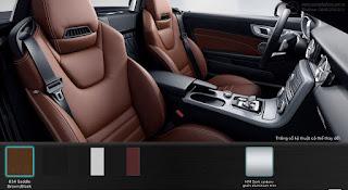 Nội thất Mercedes AMG SLC 43 2016 màu Đen/Nâu Saddle 834
