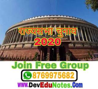 Rajasthan me rajyasabha election 2020