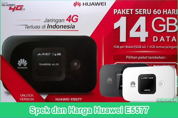 Spesifikasi lengkap huawei e5577 beserta harga dan informasi lainnya