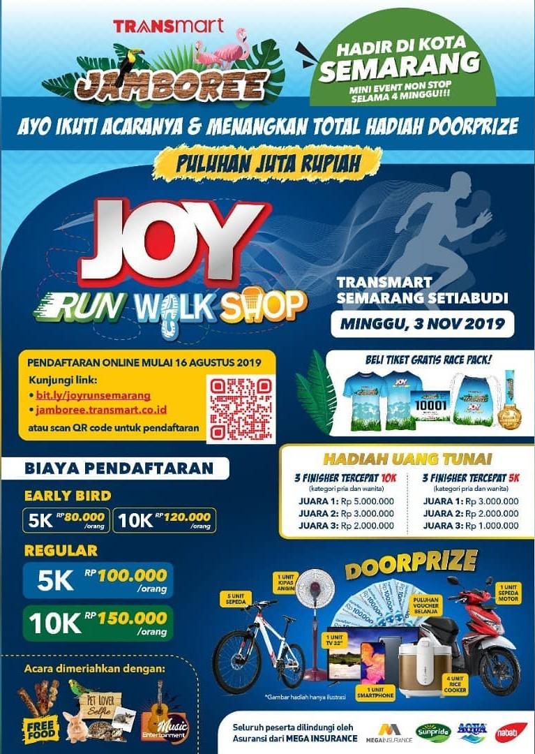 Joy: Run Walk Shop - Transmart Setiabudi Semarang • 2019