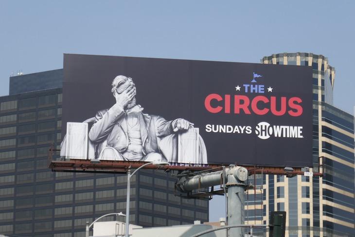 Circus Lincoln Memorial billboard