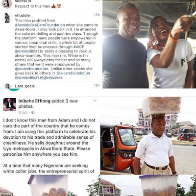 Viral doughnut selling and Annie Idibia