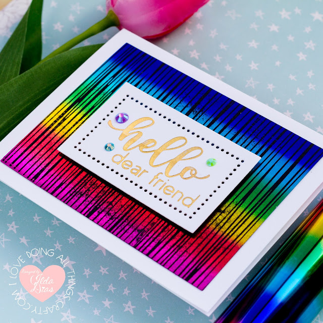 Rainbow Foiled Friendship Cards | Spellbinders