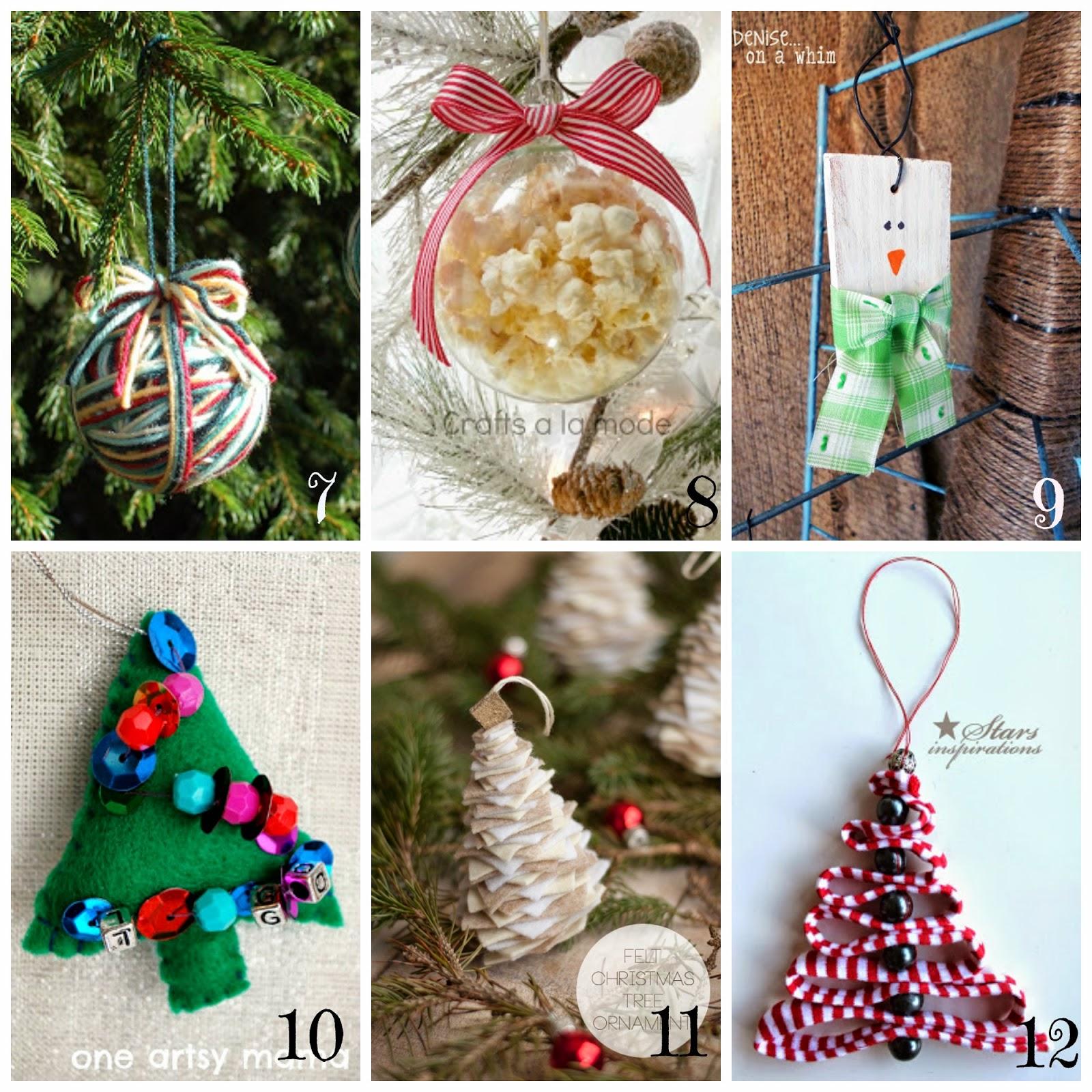 decorazioni per l'albero di natale fai da te- 12 tutorial semplici e