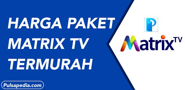 Cara Mendapatkan Voucher Matrix TV Murah