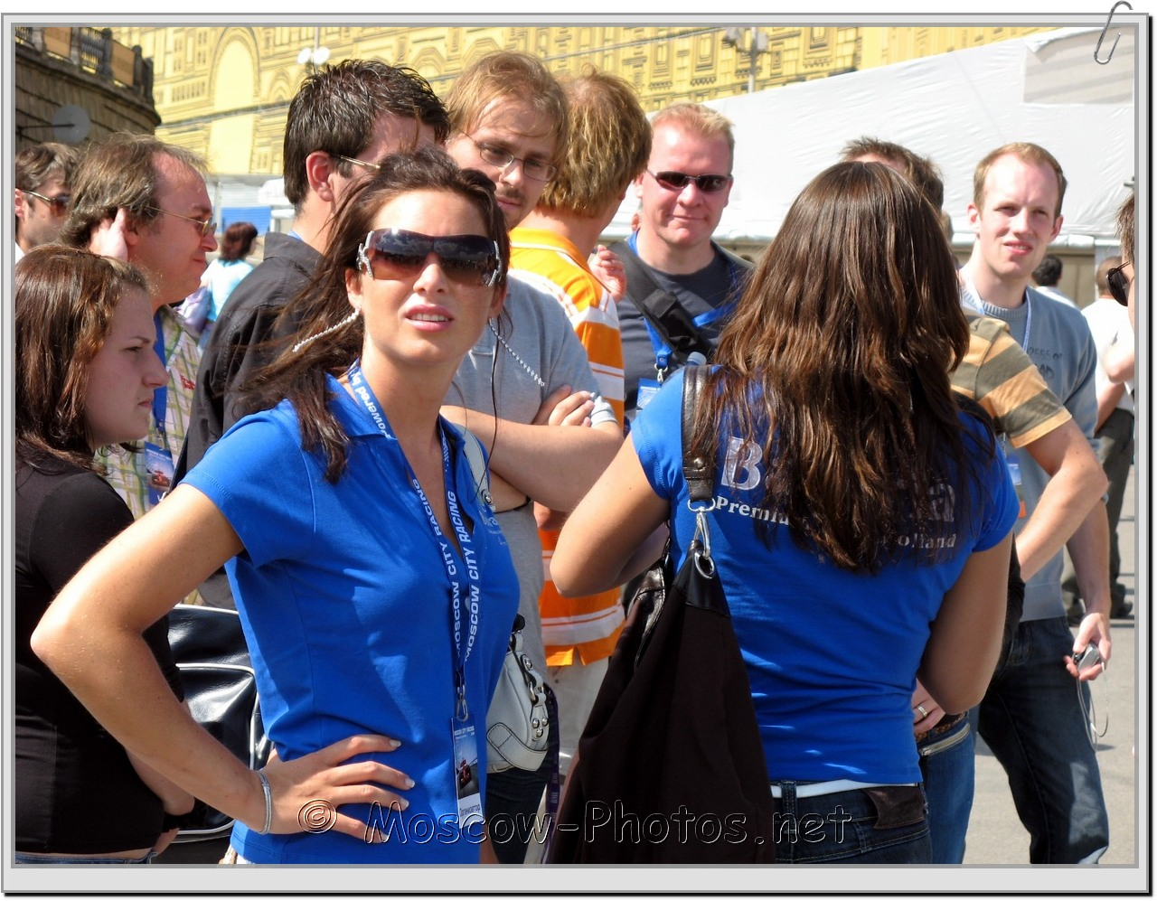 Girl In Sunglasses at Bavaria Moscow City Racing 2008