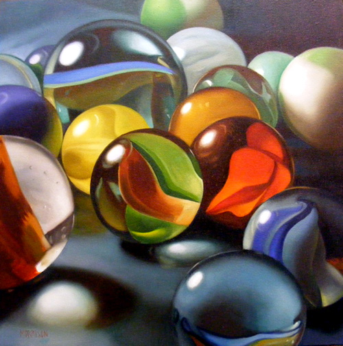 painting of marbles