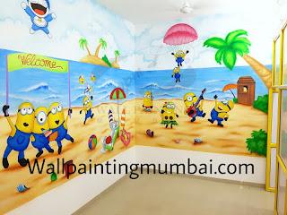 CUSTOMIZED CARTOON THEME WALL PAINTING FOR PLAY SCHOOL & DAYCARE MUMBAI