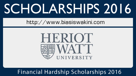 Financial Hardship Scholarships 2016